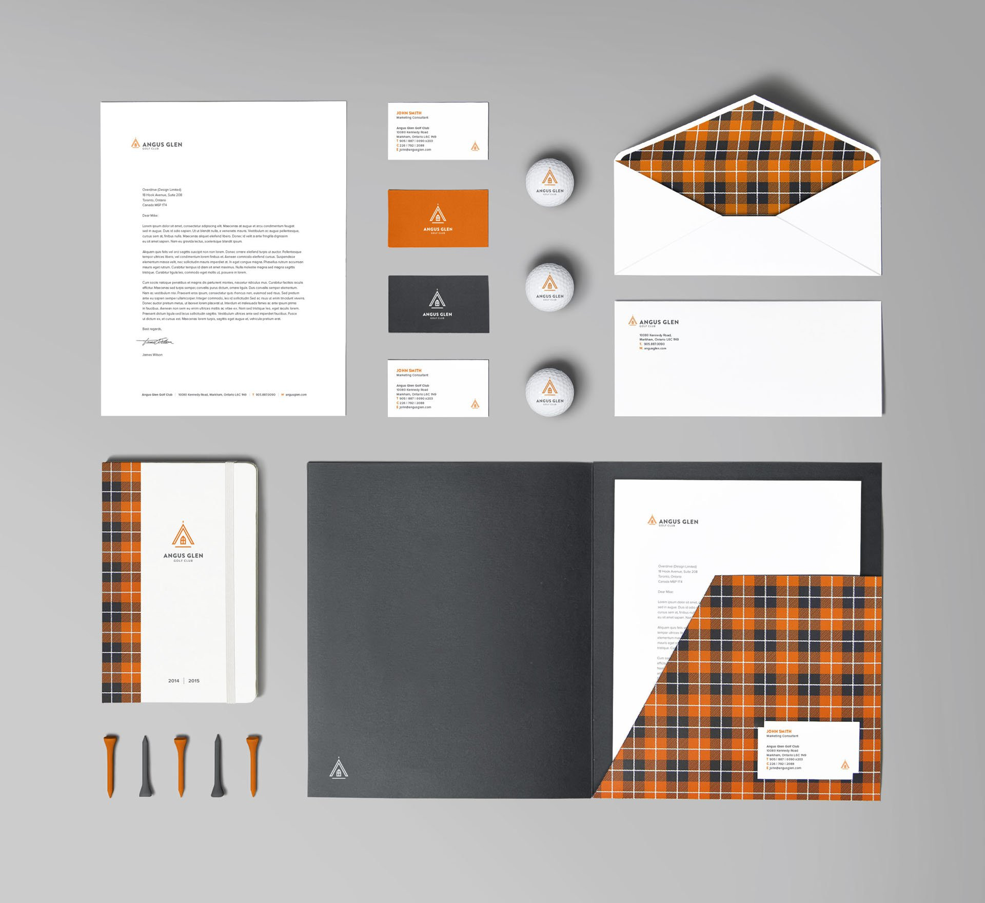 angus glen golf course stationery