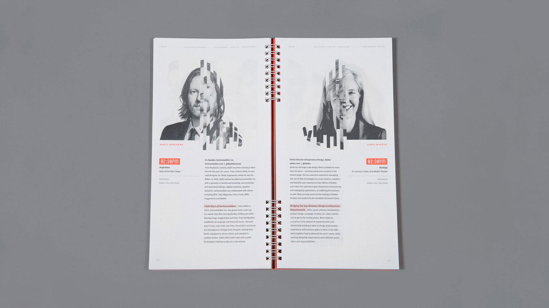 E poster design software - Speaker Program Spread