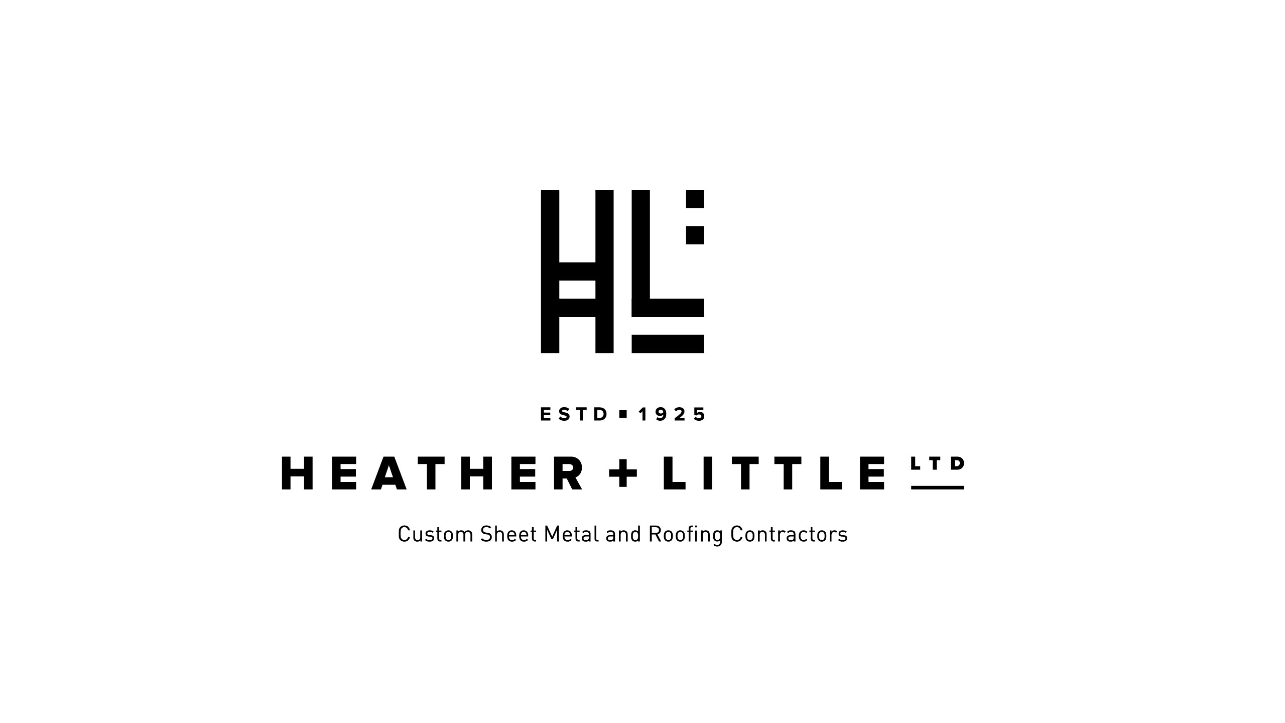 heather and little logo black and white