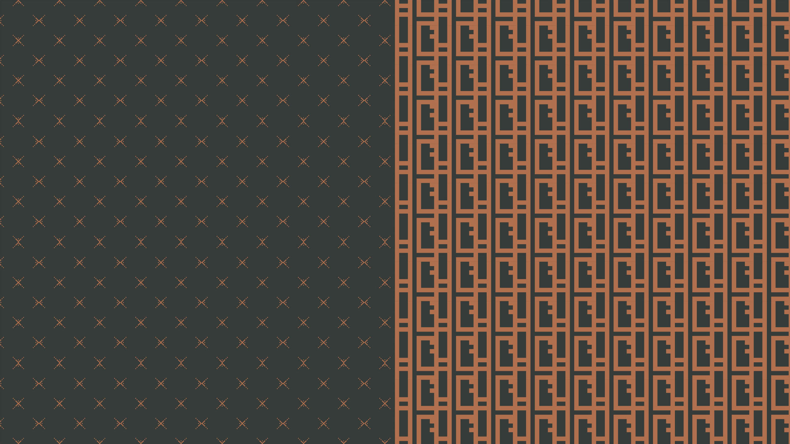 black and copper pattern