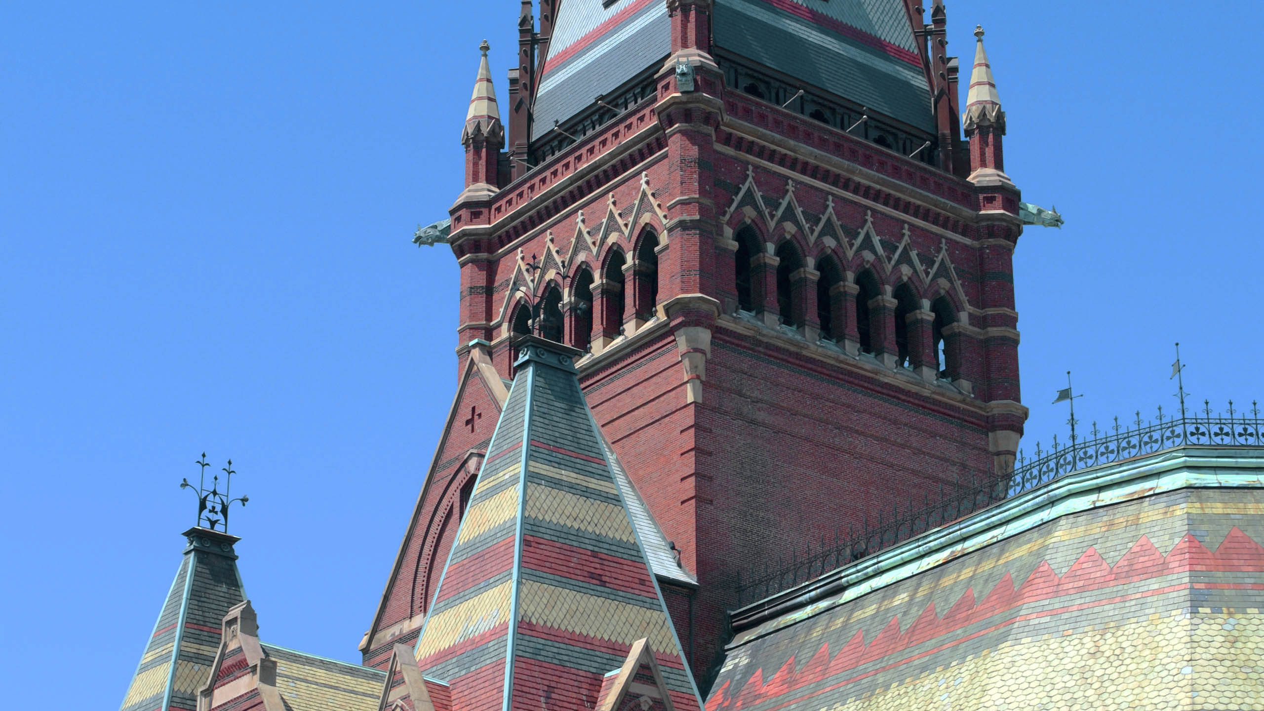 steeple tower memorial hall at harvard university