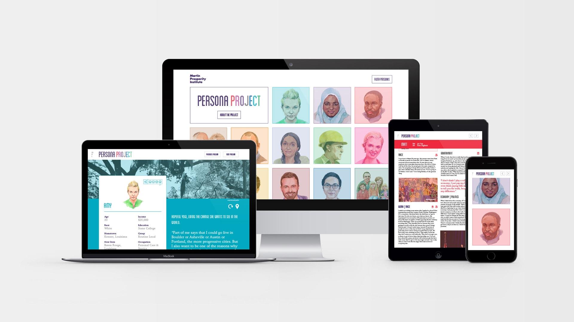 website displayed on multiple screens