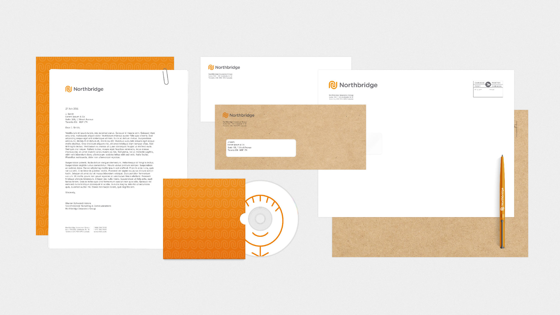 brand expression stationery pieces