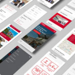 mobile screens of website