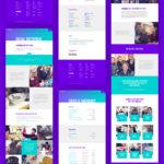multiple website layouts on purple background