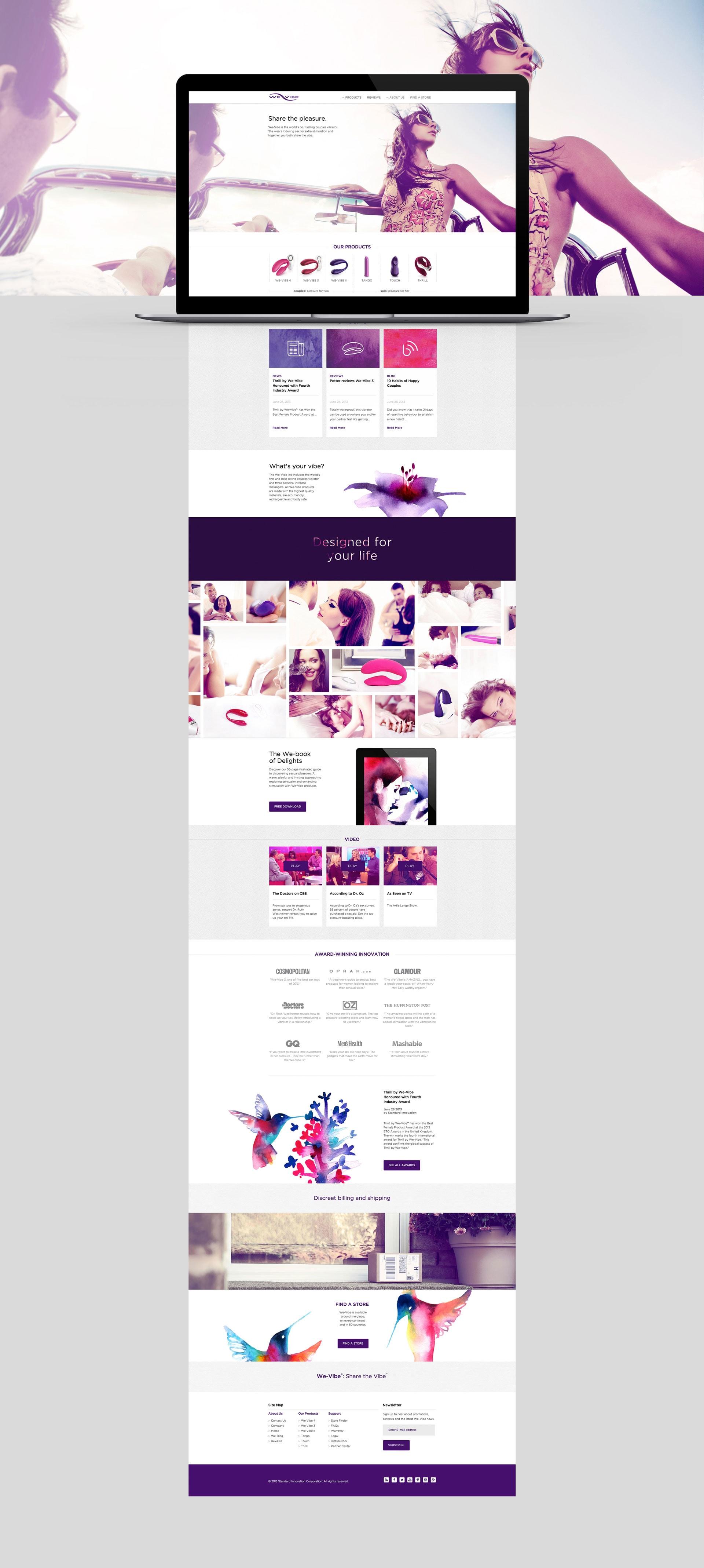 we vibe website homepage